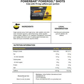 PowerBar PowerGel Shots Box 24 x 60g, Cola